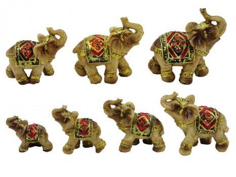 Elefánt figura szett strasszos 7db