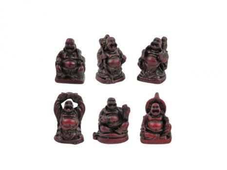 Buddha szobor 6 db - 3 cm