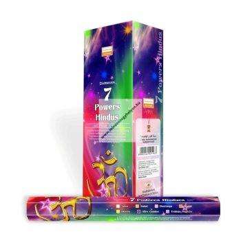 7 Powers Hindu indiai füstölő