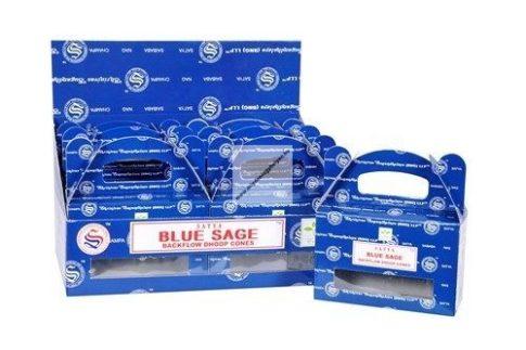 Satya Backflow-Blue Sage Kék zsálya Lefelé áramló füstölőkúp