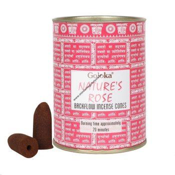 Goloka Rose-Rózsa Back Flow Kúpfüstölő