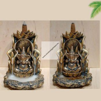 """Bronz színű Ganesha""""-Back Flow-lefelé áramlós füstölőtartó"""